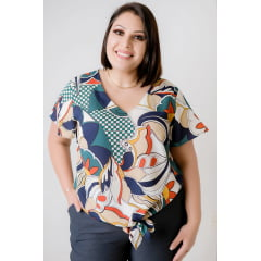 BLUSA FEMININA PLUS SIZE MARGARIDA