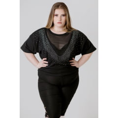CROPPED PLUS SIZE TULE